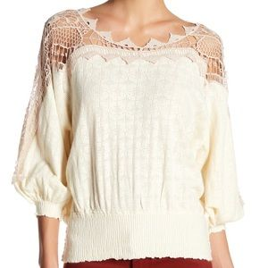 FREE PEOPLE~ Love Lace Sweater~S